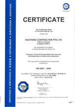 ISO 9001 - 2008 Logistic Transport